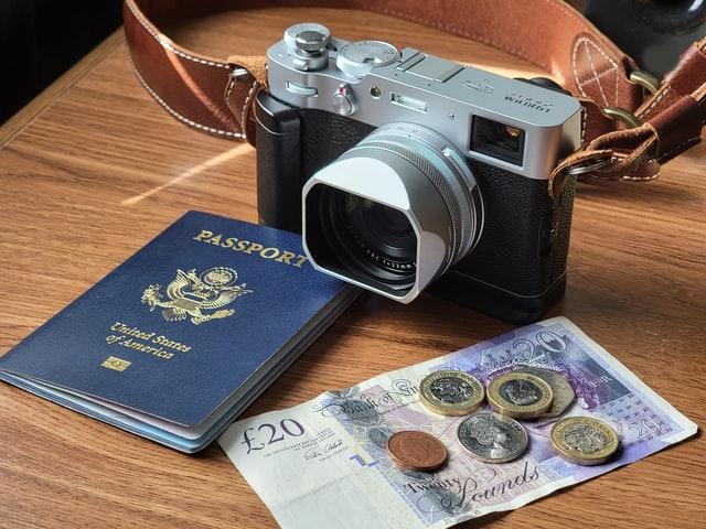 passport camera and cash
