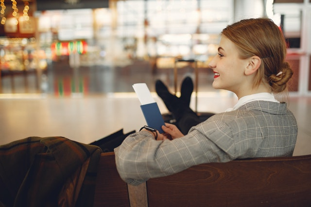 traveler with passport document